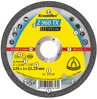 Trennscheiben für Metall Ø 180 und 230 mm